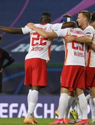 RB Leipzig thrashes Atletico Madrid