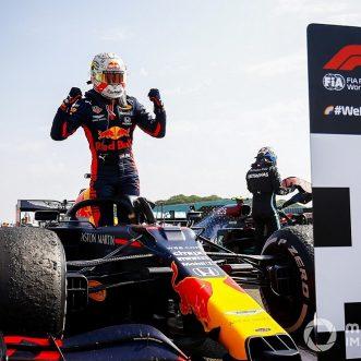 Max Verstappen defeats Mercedes to bag the 70th Anniversary Grand Prix