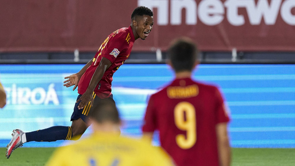 Spain Crush Ukraine As Ansu Fati Shines