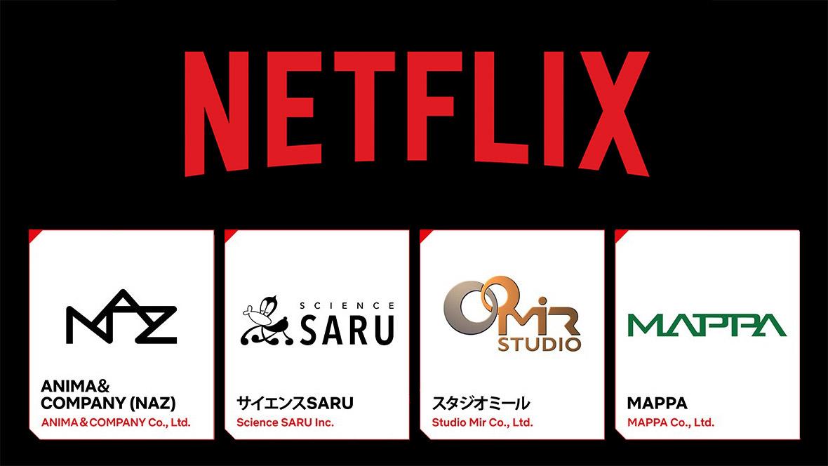 Netflix Announces New Partnerships With NAZ, Science Saru, MAPPA, Studio Mir